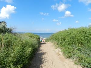 пляж у частного сектора